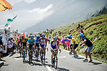 The main GC contenders led by Groupama-FDJ working for team leader Thibaut Pinot (FRA) on the Col du Tourmalet during Stage 14 of the 2019 Tour de France running 117.5km from Tarbes to Tourmalet Bareges, France. 20th July 2019.<br /> Picture: ASO/Pauline Ballet | Cyclefile<br /> All photos usage must carry mandatory copyright credit (© Cyclefile | ASO/Pauline Ballet)