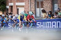 Emilie Moberg (SWE/Drops-Le Col) and Sara Penton (SWE/Drops-Le Col) up the Wijnpers <br /> <br /> Women Elite – Road Race (WC)<br /> Race from Antwerp to Leuven (157.7km)<br /> <br /> ©kramon