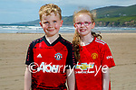 Enjoying the day on Inch Beach on Saturday, l to r: Paudie O'Leary and Aoibheann Casey.