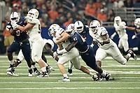 SAN ANTONIO, TX - SEPTEMBER 22, 2018: The University of Texas at San Antonio Roadrunners defeat the Texas State University Bobcats 25-21 in the Alamodome. (Photo by Jeff Huehn)