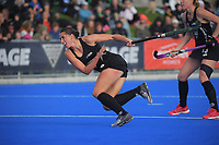NZ's Steph Dickins in action during the Sentinel Homes Trans Tasman Series hockey match between the New Zealand Black Sticks Women and the Australian Hockeyroos at Massey University Hockey Turf in Palmerston North, New Zealand on Sunday, 30 May 2021. Photo: Dave Lintott / lintottphoto.co.nz