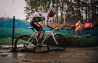 Eli Iserbyt (BEL/Pauwels Sauzen-Bingoal) splashing around<br /> <br /> Men's Race at the X2O Herentals Cross 2020 (BEL)<br /> <br /> ©kramon