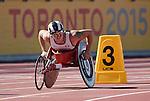 Josh Cassidy, Toronto 2015 - Para Athletics // Para-athlétisme.<br /> Josh Cassidy competes in the Men's 800m T54 Final // Josh Cassidy participe à la finale du 800 m T54 masculin. 12/08/2015.