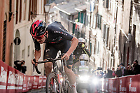 Tom Pidcock (GBR/Ineos Grenadiers) up the final steep climb in Siena<br /> <br /> 15th Strade Bianche 2021<br /> ME (1.UWT)<br /> 1 day race from Siena to Siena (ITA/184km)<br /> <br /> ©kramon