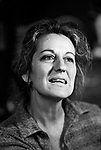 Germaine Greer, at home London 1980s.<br />