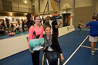 Rotterdam,Netherlands, December 15, 2015,  Topsport Centrum, Lotto NK Tennis, ballkids selection for ABNAMROWTT<br /> Photo: Tennisimages/Henk Koster