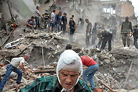 Man injured during airstrike in Snizhne. July 15, 2014