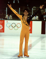 Brian Orser Canadian figure skater competes at the 1984 Olympics in Sarajevo, Yugoslavia. Photo copyright Scott Grant