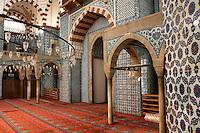 The interior of the Rustem Pasha Mosque, Istanbul, Turkey