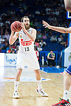 Real Madrid's Sergio Rodriguez during the first match of the playoff at Barclaycard Center in Madrid. May 27, 2016. (ALTERPHOTOS/BorjaB.Hojas)