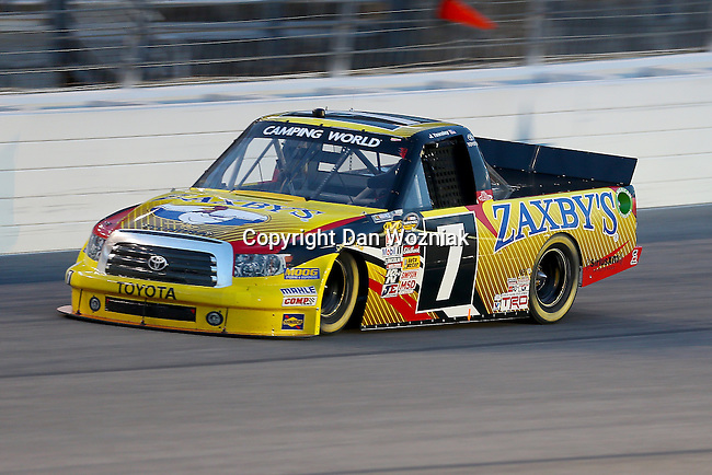Camping World Truck Series driver John Wes Townley (7) in action during the NCWTS Winstar World Casino 400 race at Texas Motor Speedway in Fort Worth,Texas.