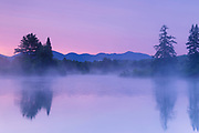 Coffin Pond in Sugar Hill, New Hampshire USA at sunrise during the summer months