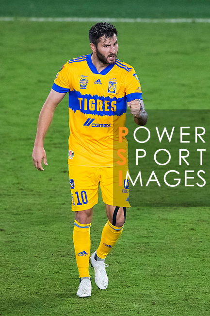 Andre-Pierre Gignac of Tigres UANL (MEX) celebrates after scoring against Los Angeles FC (USA) during their CONCACAF Champions League Final match at the Orlando's Exploria Stadium on 22 December 2020, in Florida, USA. Photo by Victor Fraile / Power Sport Images