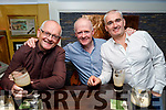 Enjoying the evening in the Brogue Inn on Saturday. L to r: Billy and Dominic Griffin and Tim Somers.
