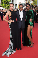 Irina Shayk, Lewis Hamilton, Liya Kebede - CANNES 2016 - MONTEE DES MARCHES DU FILM 'LA FILLE INCONNUE'