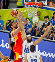 Marc Gasol of Spain in action during European basketball championship Eurobasket 2013, round 2, group F  basketball game between Italy and Spain in Stozice Arena in Ljubljana, Slovenia, on September 16. 2013. (credit: Pedja Milosavljevic  / thepedja@gmail.com / +381641260959)