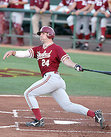 Jake Stewart #24 of the Stanford Cardinal plays against the Arizona State Sun Devils on April 29, 2011 at Packard Stadium, Arizona State University, in Tempe, Arizona. .Photo by:  Bill Mitchell/Four Seam Images.