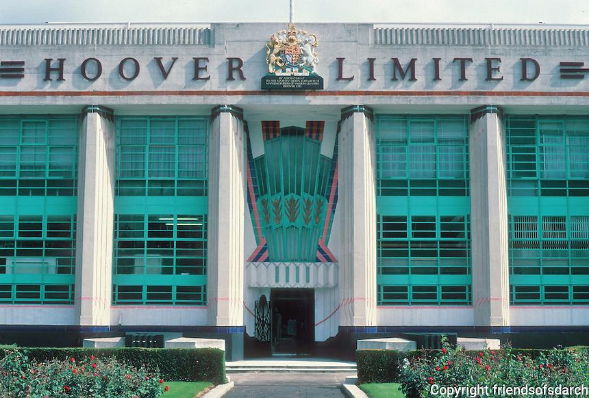Wallis Gilbert: Hoover Factory, London. Elevation. 1932-35. Photo '87.