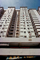 Singapore: High rise above shops--the New Singapore. Photo '83.