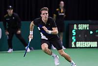 Rotterdam, Netherlands, 10 februari, 2018, Ahoy, Tennis, ABNAMROWTT, Qualifying, Scott Griekspoor (NED)<br /> Photo: Henk Koster/tennisimages.com