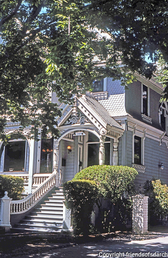 Stockton CA:  Newell House, 1888. 1107 N. San Joaquin Ave. Built for Sidney Newell of the Stocton Savings Bank.