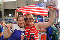 PARIS, FRANCE - JUNE 28: Fans prior to a 2019 FIFA Women's World Cup France quarter-final match between France and the United States at Parc des Princes on June 28, 2019 in Paris, France.