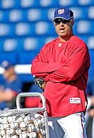 18 March 2007: Washington Nationals Manager Manny Acta coordinates field drills prior to facing the Florida Marlins at Space Coast Stadium in Viera, Florida...Mandatory Photo Credit: Ed Wolfstein Photo