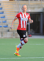 20160824 - GENT , BELGIUM : PSV Eindhoven's Michelle Hendriks  pictured during a friendly game between KAA Gent Ladies and PSV Eindhoven during the preparations for the 2016-2017 season , Wednesday 24 August 2016 ,  PHOTO Dirk Vuylsteke   Sportpix.Be