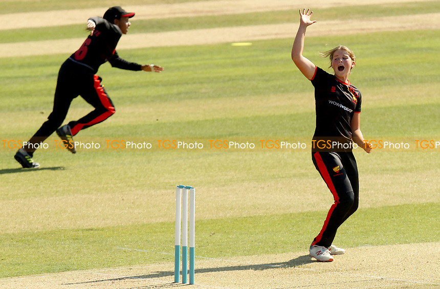 Grace Scrivens of Sunrisers appeals for a wicket during Sunrisers vs South East Stars, Rachael Heyhoe Flint Trophy Cricket at The Cloudfm County Ground on 13th September 2020