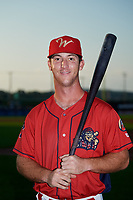 Williamsport Crosscutters Seth Lancaster (26) poses for a photo before a game against the Mahoning Valley Scrappers on August 28, 2018 at BB&T Ballpark in Williamsport, Pennsylvania.  Williamsport defeated Mahoning Valley 8-0.  (Mike Janes/Four Seam Images)