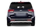 Straight rear view of a 2015 KIA Sedona SX Limited 4 Door Minivan Rear View  stock images