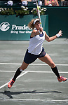 April 8,2017:   Laura Siegemund (GER) loses to Daria Kasatkina (RUS) 3-6, 6-2, 6-1, at the Volvo Car Open being played at Family Circle Tennis Center in Charleston, South Carolina.  ©Leslie Billman/Tennisclix/Cal Sport Media