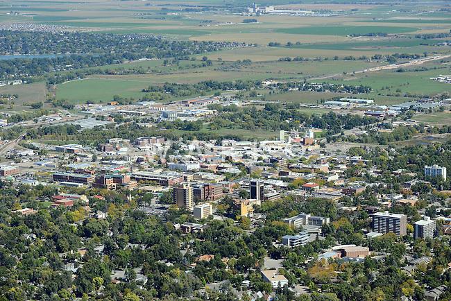 Aerial of Ft. Collins, Colorado. Oct. 1, 2013.  84282