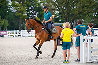 AUS-Kevin McNab and Don Quidam. The Australian Equestrian Team - Eventing, do their evening familiarisations prior to competition at the Equestrian Park. Tokyo 2020 Olympic Games. Monday 26 July 2021. Copyright Photo: Libby Law Photography