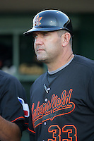 May 26, 2010: Bill Hasselman, manager of the Bakersfield Blaze, before game against the Inland Empire 66'ers at Arrowhead Credit Union Park in San Bernardino,CA.  Photo by Larry Goren/Four Seam Images
