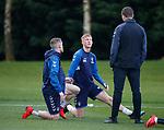 02.04.2019 Rangers training: Steven Gerrard and Ross McCrorie