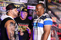ATLANTIC CITY, NJ - JUNE 10 : Hazel Roche and Tim Witherspoon at Celebrity Boxing weigh in at The Show Boat Hotel in Atlantic City New Jersey June 10, 2021 Credit: Star Shooter/MediaPunch