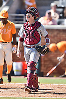 South Carolina Gamecocks catcher Hunter Taylor (38) during a game against the Tennessee Volunteers at Lindsey Nelson Stadium on March 18, 2017 in Knoxville, Tennessee. The Gamecocks defeated Volunteers 6-5. (Tony Farlow/Four Seam Images)