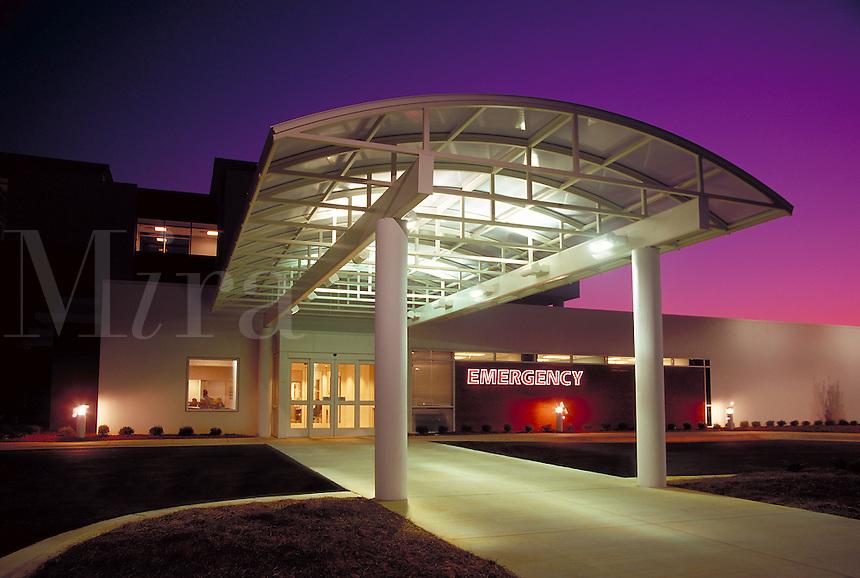 Hospital emergency room entrance, exterior 1, Cumming, GA, near Atlanta. Cumming, Georgia.