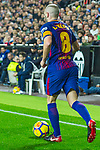 Andres Iniesta Lujan of FC Barcelona runs with the ball during the La Liga 2017-18 match between Valencia CF and FC Barcelona at Estadio de Mestalla on November 26 2017 in Valencia, Spain. Photo by Maria Jose Segovia Carmona / Power Sport Images