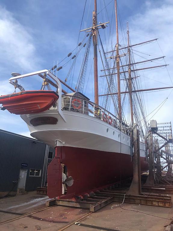 The 164ft Tradewind schooner lying in Sweden