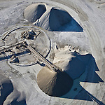 Bulk materials near Florida Power & Light (FPL) West County Energy Center (WCEC) in Northern Palm Beach County Florida helicopter aerial