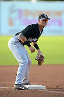 Infielder Tate Blackman (21) of Lake Brantley High School in Altamonte Springs, Florida playing for the Colorado Rockies scout team during the East Coast Pro Showcase on August 1, 2013 at NBT Bank Stadium in Syracuse, New York.  (Mike Janes/Four Seam Images)