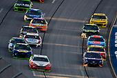 #12: Ryan Blaney, Team Penske, Ford Fusion REV and #11: Denny Hamlin, Joe Gibbs Racing, Toyota Camry FedEx Ground