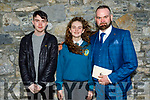 Natasha Egan Moynihan former student of Caherleaheen NS on her Confirmation in St John's Church on Saturday standing with Kyle Lyne Moynihan and John Moynihan