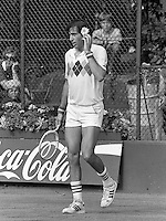 1982,  Hilversum, Dutch Open, Melkhuisje, Nastase puts a flower in his hair