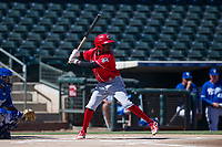 Cincinnati Reds outfield Zeke White (35) at bat during an Instructional League game against the Kansas City Royals on October 2, 2017 at Surprise Stadium in Surprise, Arizona. (Zachary Lucy/Four Seam Images)