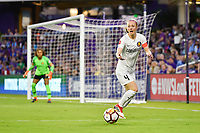 Orlando, FL - Saturday March 24, 2018: Utah Royals defender Becky Sauerbrunn (4) during a regular season National Women's Soccer League (NWSL) match between the Orlando Pride and the Utah Royals FC at Orlando City Stadium. The game ended in a 1-1 draw.