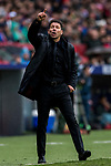 Coach Diego Simeone of Atletico de Madrid reacts during the La Liga 2017-18 match between Atletico de Madrid and Getafe CF at Wanda Metropolitano on January 06 2018 in Madrid, Spain. Photo by Diego Gonzalez / Power Sport Images