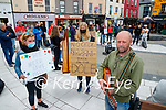 Estrella Oronoz (Knocknagoshel) Lena Haverkamp (Tralee) and Barry Lynch (Killorglin) at the Kerry Musicians protest at the Square, Tralee on Wednesday.